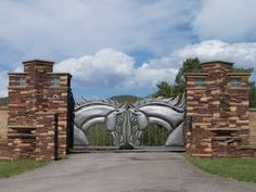 Fancy Ranch Gate - I bet they have horses... | Doors & gates
