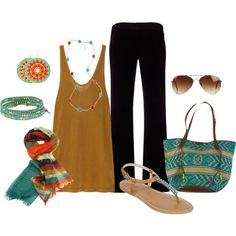 """""""Turquoise and Coral"""" by cathy0402 on Polyvore"""