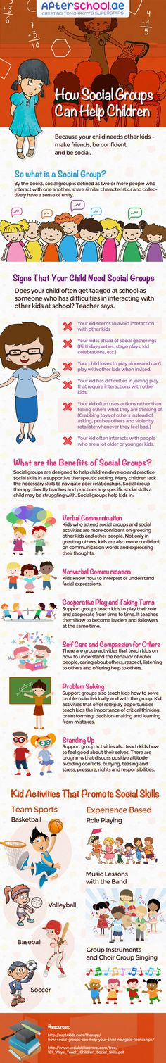 How Social Groups can Help Children #infographic #Education #SocialGroup