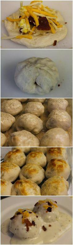 Stuffed Breakfast Bubble Biscuits