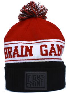 70f45b63095 Brain Gang Cuffed Pom Beanie by 8