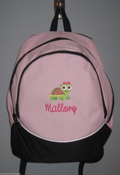 Skull with Daisy Personalized Embroidered Back Pack