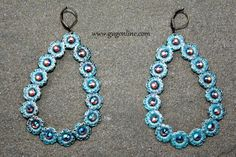 Save 10%  by using GUGREPBRITT at checkout!  www.gugonline.com Turquoise AB Crystals on Turquoise Teardrop Earrings