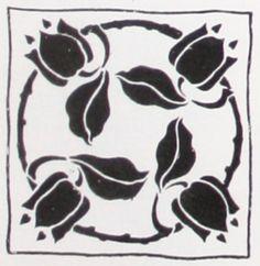 Laurelhurst 1912 Craftsman: Pillow Stencil design