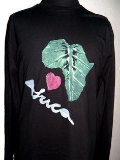 Long Sleeve Man T Shirt. I Love Africa. from PaperArcsArt by DaWanda.com