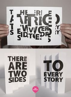 Typography by Lex Wilson. I thought this was a clever idea that could possibly be used as a table top advertizement Awesome hand-drawn typographic illustrations by Lex Wilson, a graphic designer based in London. More typography inspiration via Abduzeedo