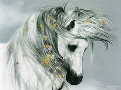 Horse of Elegant - Lesley Harrison Horse Paintings art
