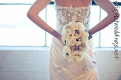 #decor #weddings #blue #gown #bride #bouquet (saw this on http://originalweddings.net )