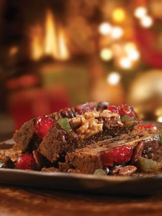 Bourbon whiskey lends flavor to traditional Christmas fruitcakes.