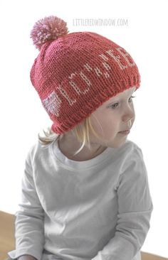 Cute Baby wearing Valentine Love Note Hats knitting pattern! Baby Hat  Knitting Pattern 524de93bca5e