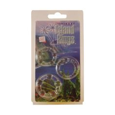 California 199900007 Exotic Novelties Silicone Island Rings - 3er Set - Penisringe