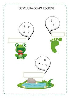 Notebook da Profª: Projeto O Sapo Learn To Read, Professor, Preschool, Writing, Learning, Books, Fictional Characters, 1, Letter E Activities