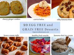Egg and Grain Free Desserts