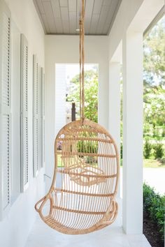 Porch featuring Hanging Chairs and tongue and groove porch ceiling in Benjamin Moore HC-168 Chelsea Gray Porch featuring Hanging Chairs and tongue and groove porch ceiling in Benjamin Moore HC-168 Chelsea Gray Porch featuring Hanging Chairs and tongue and groove porch ceiling in Benjamin Moore HC-168 Chelsea Gray #Porch #HangingChairs #porchhangingchair #tongueandgroove #porchceiling #BenjaminMooreHC168ChelseaGray #BenjaminMooreChelseaGray #BenjaminMooreHC168 #BenjaminMoore Front Door Paint Colors, Painted Front Doors, Chelsea Gray, Porch Paint, Porch Ceiling, Front Porch Design, Hanging Chairs, Porch Furniture, Parade Of Homes
