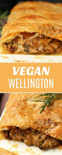 This vegan wellington is perfect for a special occasion. Creamy mushroom sauce wrapped in deliciously flaky puff pastry. Simple and gorgeous. #vegan #plantbased | lovingitvegan.com