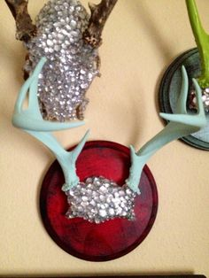Mounted Deer Antlers for Her Makes a Perfect Hook to Hang Scarves and Jewelry on Etsy, $75.00