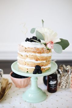Waffle Cake // Eloise's Birthday Baby Doll Brunch Brunch Cake, Brunch Decor, Brunch Party, Brunch Wedding, Easter Brunch, Brunch Ideas, Party Party, Doll Party, First Birthday Brunch