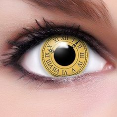 FUNZERA® Shanringan  Lentilles de Contact de Couleur Jaune-Noir