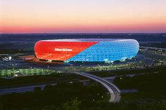 Power-Ranking World Football's 50 Best Stadiums.  Allianz Arena: Munich, Germany   Opened: 2005    Capacity: 69,000+    Tenants: FC Bayern Munich, TSV 1860 Munich    The Allanz Arena is the only stadium in Europe that can change colors. The home of Germany's most successful club, Bayern Munich recently hosted the 2012 UEFA Champions League final.