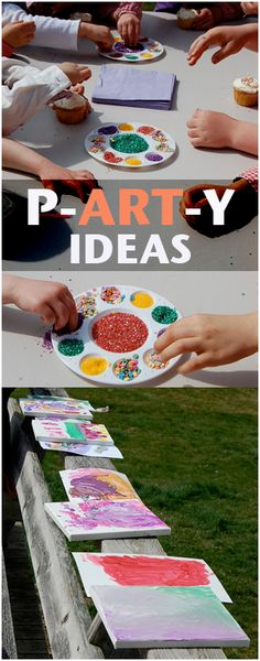 Check out these awesome art party for kids ideas!