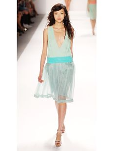 Jill Stuart S/S 2012 - gorgeously ethereal, color, silhouette, model - all lovely.  www.whowhatwear.com