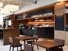 Starbucks Shop, Starbucks Coffee, Retail Interior, Cafe Interior, Cafe Restaurant, Restaurant Design, Food Court Design, Coffee Bar Design, Coffee Store