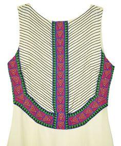 Mara Hoffman Vanilla Silk Chiffon Beaded Gown