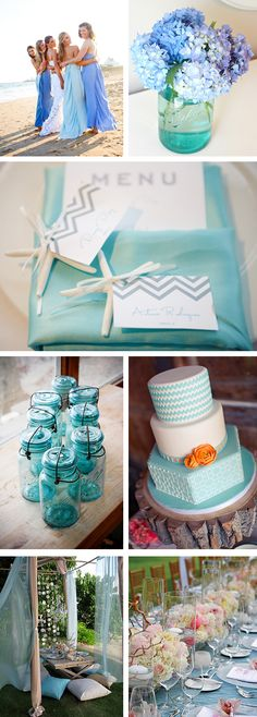 #wedding ideas and inspirations Lovely aqua colours :)