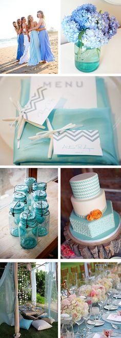 ocean blue weddings Caribbean Blue Wedding Ideas