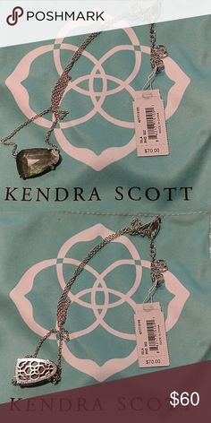 Isla Necklace in Silver & Black Pearl NWT. Dust bag & care card included. All pictures are of the actual item that you will receive. Smoke-free home. Kendra Scott Jewelry Necklaces
