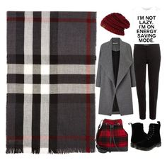 """new burberry scarf"" by hilorine on Polyvore featuring Burberry, Miss Selfridge, Etro, Barneys New York and Dr. Martens"