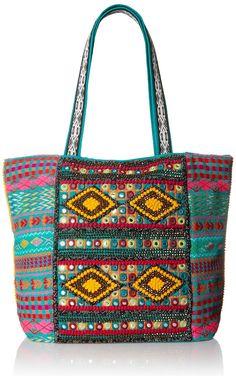 BIG BUDDHA Bobbie Tote Bag, Teal Multi, One Size: Handbags: Amazon.com