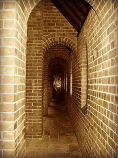 The hallways of the historic Fairbridge Memorial Chapel.