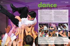 [The Eagle, Richardson High School, Richardson, TX] #yearbook Homecoming // Large exciting picture in the background of both pages with see through text boxes and smaller images in between.