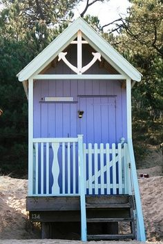 beachcomber beach hut (norfolk uk) I could put one of these at the bottom of the garden and move in!!