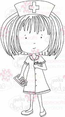 Nurse Annie digital stamp download - Polkadoodles Ltd