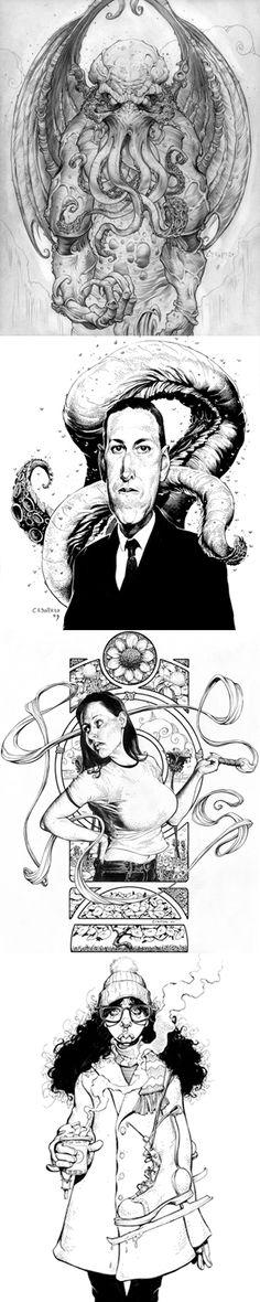 Cthulhu, Lovecraft artwork