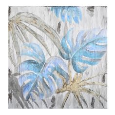 Blue Monsteria Oasis Painting | 100x100cm by Best Sellers on Brands Exclusive
