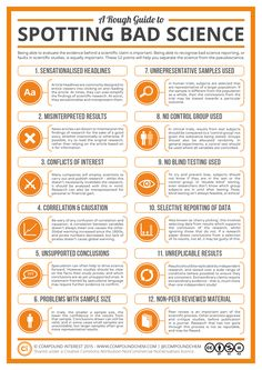 A Rough Guide to Spotting Bad Science' Poster by Compound Interest is part of Environmental Science Poster - Need a large, postersized reminder of the potential signs of bad science This comes in & sizes Pseudo Science, Physical Science, Data Science, Science And Nature, Science Posters, Science News, Science Experiments, Chemistry Posters, Beauty Science