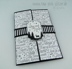 www.rosa-pink-glitzer.de: Tricky Card for Christmas with Stampin up