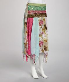 Take a look at this Papillon Imports Green Embellished Handkerchief Dress on zulily today!
