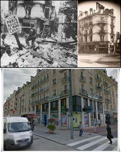 Place Saint Pierre all'ingresso della Rue Saint Jean, la pharmacie du Progrès. #NORMANDIA1944