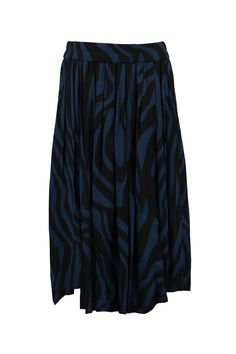 Ganni F0847 1487 Rok Gardena Georgette blues zebra - Bloom Fashion