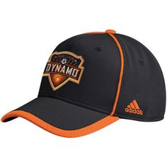 12a37e4fc97 Men s Houston Dynamo adidas Black Cut and Sew Structured Adjustable Hat