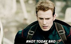 #nottodaybro | This was, in all honesty, Steve's best part in the movie.