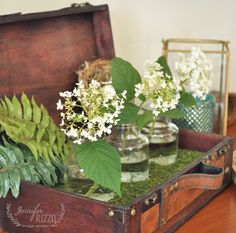 DIY Floral Display Suitcase Home Decor from Michaels Makers Jennifer Rizzo