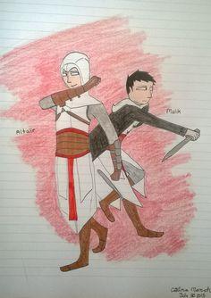 Assassins Creed Altair and Malik art drawing
