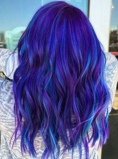 Cute Dyed Haircuts To Try Right Now Look at these colourful dyed haircuts and get inspired! Check out the article now!Look at these colourful dyed haircuts and get inspired! Check out the article now! Cute Hair Colors, Pretty Hair Color, Beautiful Hair Color, Hair Dye Colors, Vivid Hair Color, Hair Color For Kids, Galaxy Hair Color, Violet Hair Colors, Bright Hair Colors