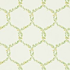 Shop for Wallpaper at Style Library: Fleur Trellis by Sanderson. A small leafy trellis wallpaper design dotted with tiny flowers and designed to comple. Feature Wallpaper, Print Wallpaper, New Wallpaper, Fabric Wallpaper, Wallpaper Roll, Nursery Wallpaper, Green Wallpaper, Trellis Wallpaper, Painted Rug