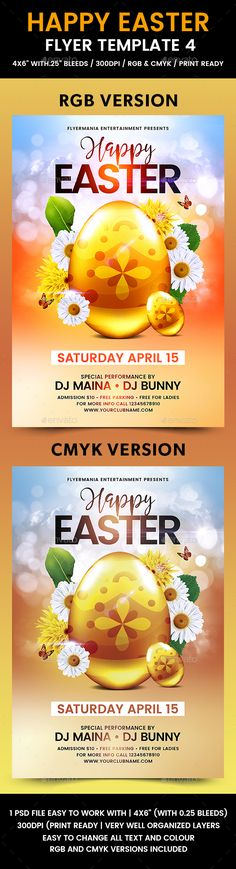 Happy Easter Flyer Template Flyer template and Happy easter - easter flyer template